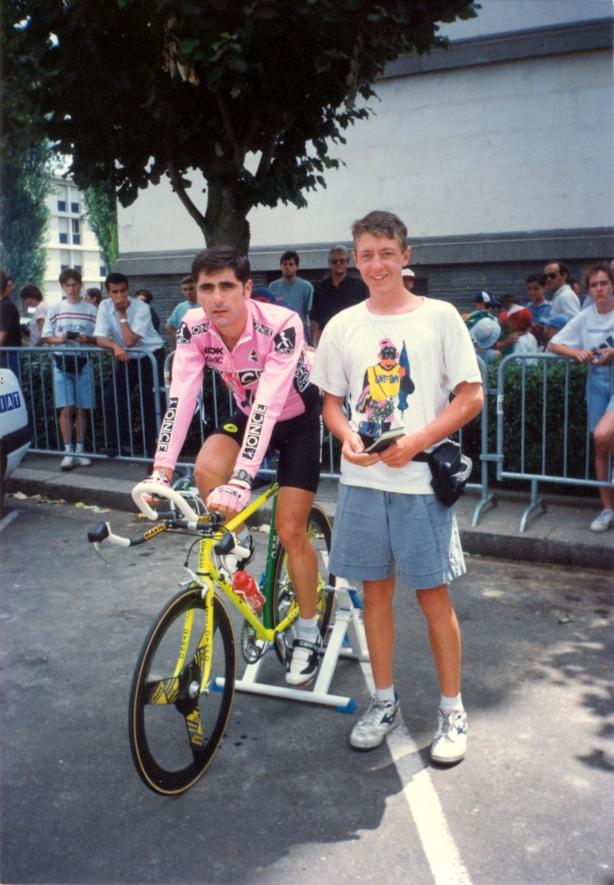 Best picture! Me and Laurent Jalabert